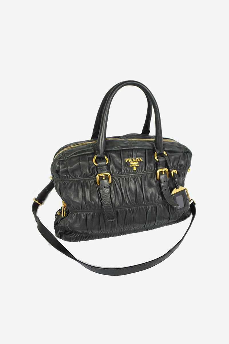 Black Nappa Leather Crossbody Handbag - ON LAYAWAY