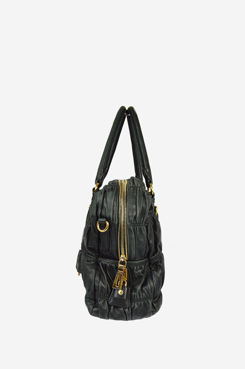 Black Nappa Leather Crossbody Handbag - Haute Classics