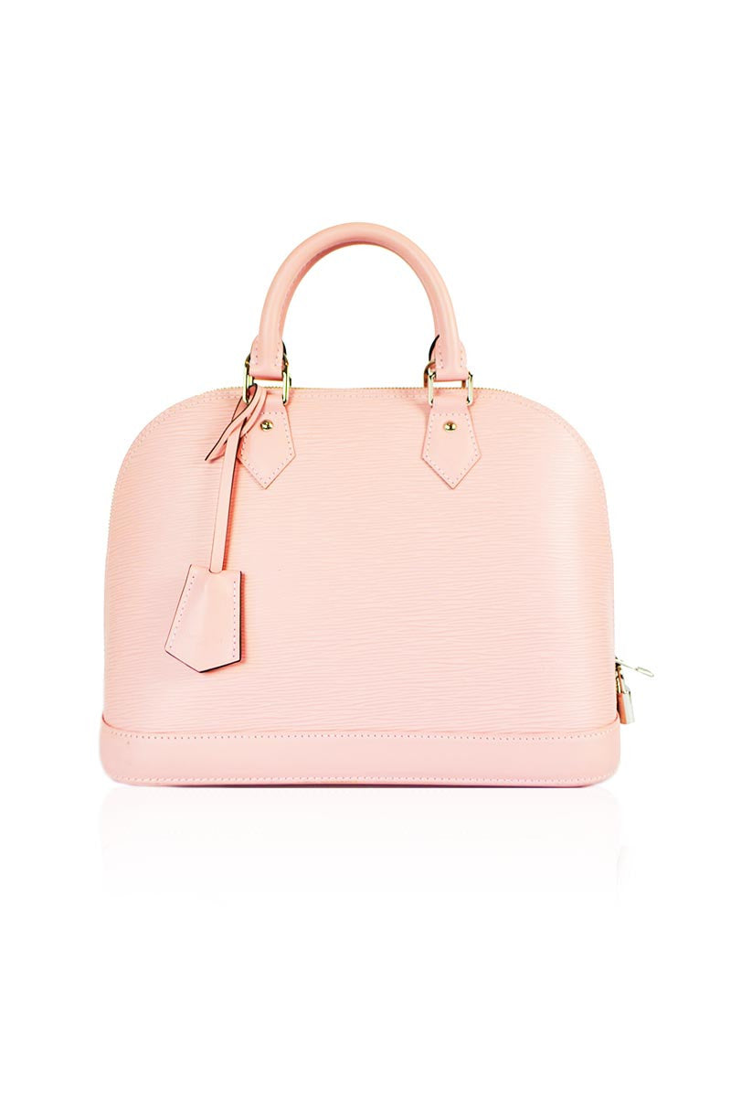Rose Ballerine Epi Leather Alma PM Bag - Haute Classics