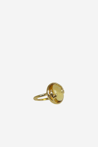 Paloma Picasso gold and citrine Olive Leaf Ring