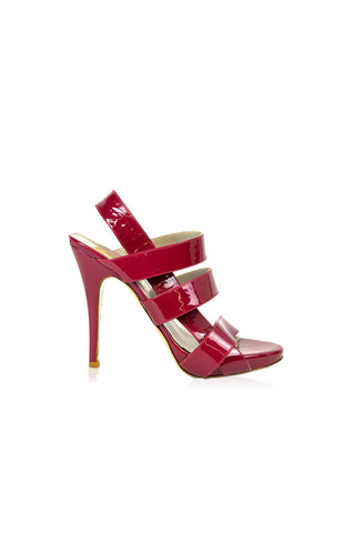 Fuschia Patent Leather Strappy Heels - Haute Classics