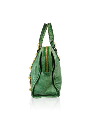 Green Leather Part Time Bag - Haute Classics