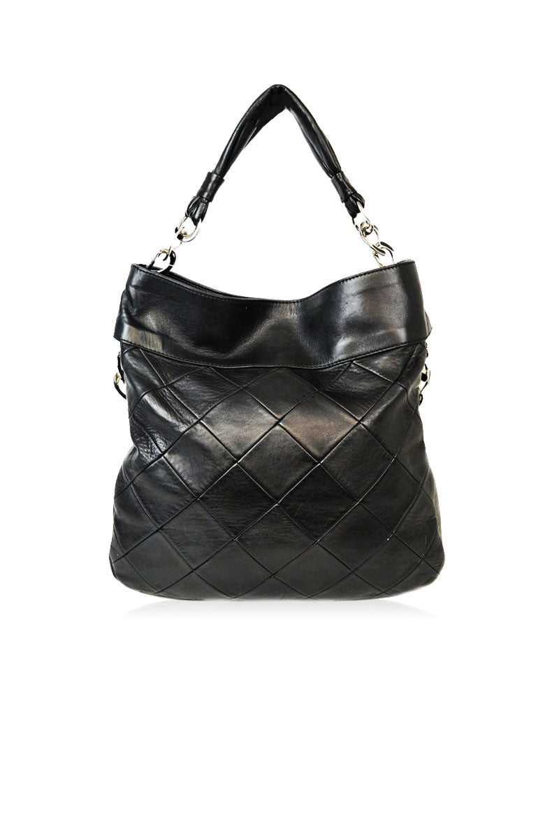 Black Quilted Hobo Bag