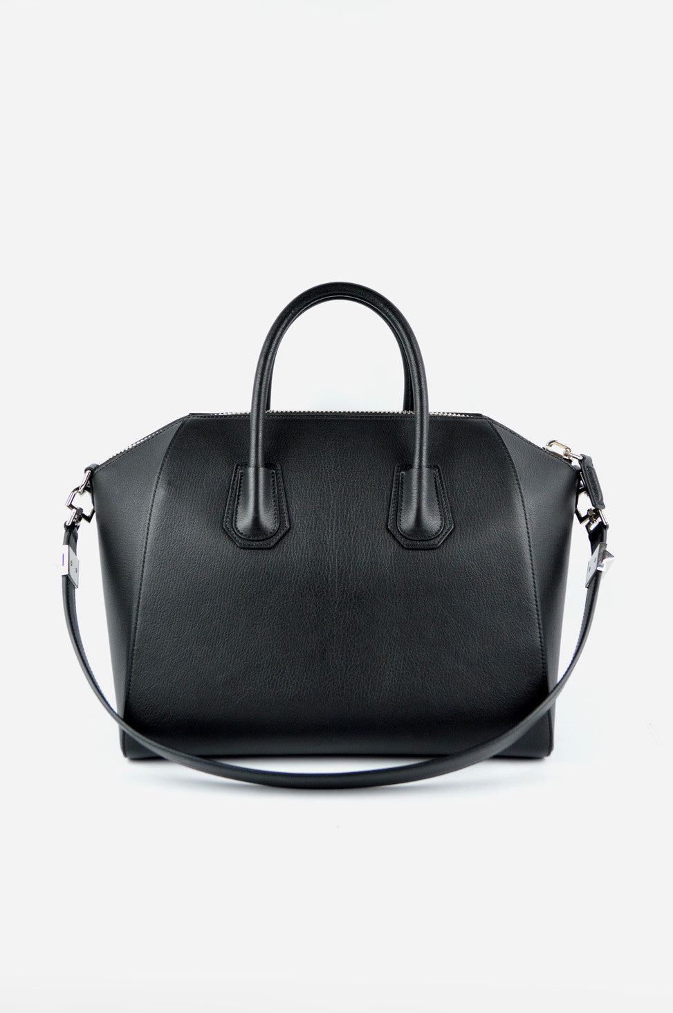 Black Medium Antigona Satchel
