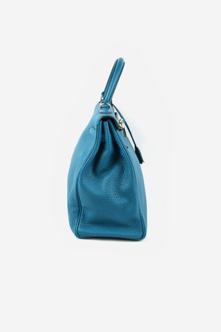 Teal Togo Kelly 35 Bag PHW