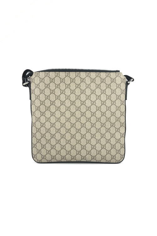 Beige GG Supreme Coated Canvas Small Messenger Bag