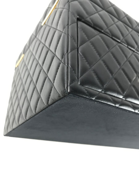 Black Lambskin Quilted Large Jewelry Box
