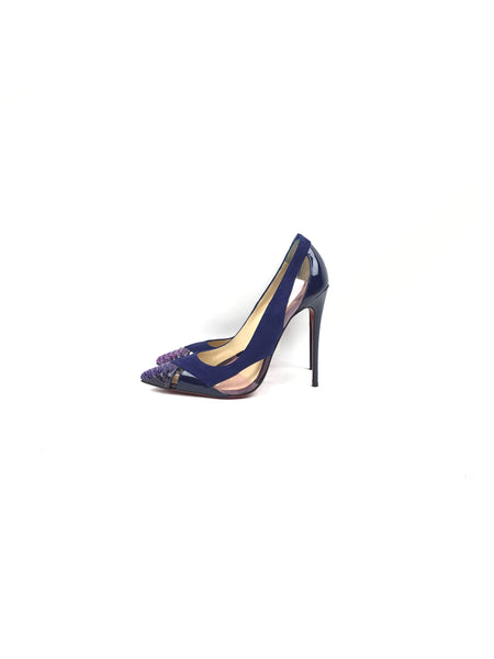 Blue/Purple Suede/Python Leather So Kate 120