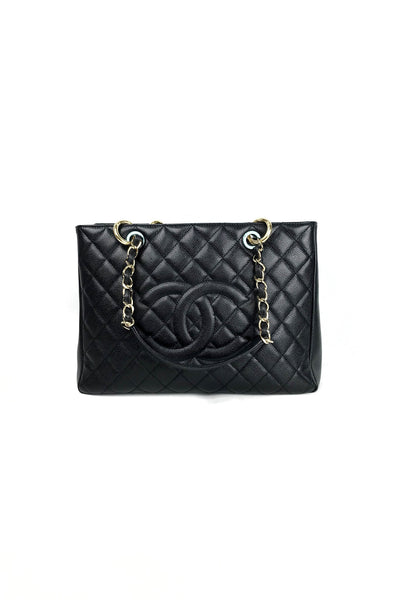 Chanel Black Caviar Grand Shopping Tote GST w/ GHW