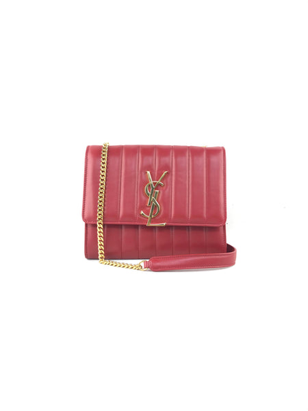 Red Lambskin Vicky Small Crossbody WOC