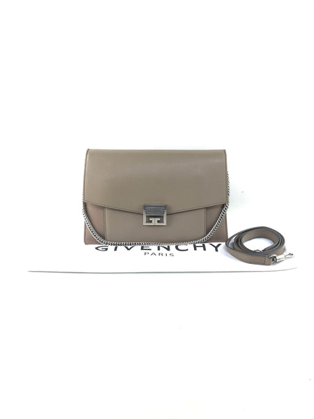 Taupe Grained Leather Medium GV3 Crossbody Bag W/RHW