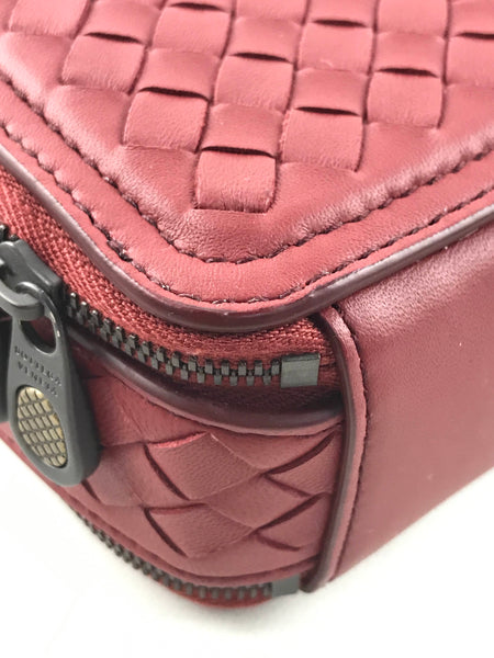 Red Weaved Leather Camera Bag W/ RHW
