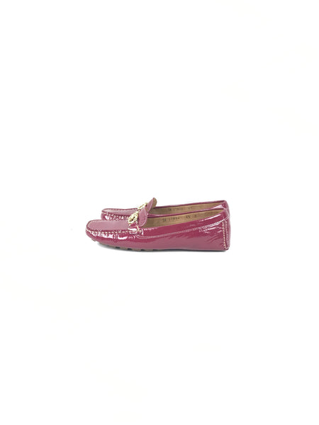 Patent Magenta Leather Richie Loafers W/ GHW Horsebit Accent