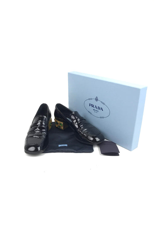 Black Patent Leather Loafers - Haute Classics