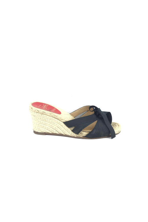 Tiburon 70 Black Ribbon Espadrille Wedges