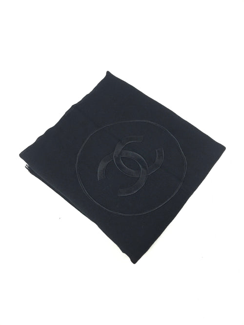 Black Sheer Cashmere CC Shawl