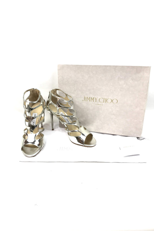 Silver Ren 100 Cut-Out Sandals
