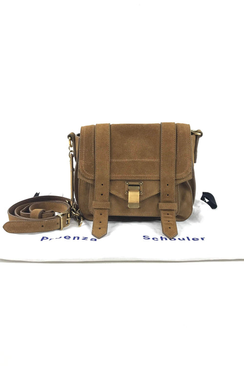 Brown Suede PS1 Mini Bag