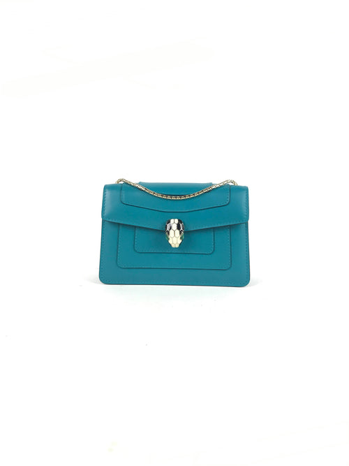 Tropical Turquoise Serpenti Forever Mini Bag W/LGHW