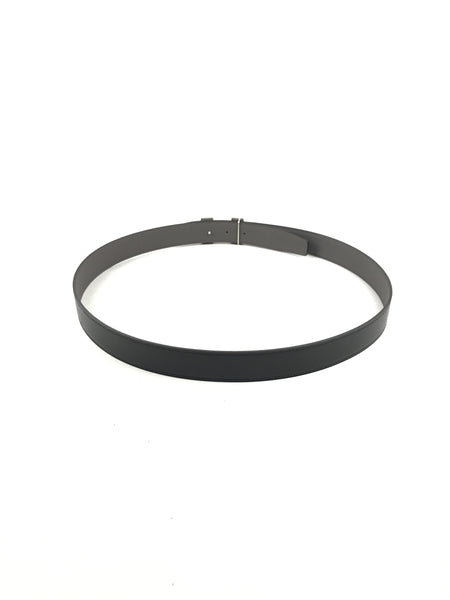 Reversible Black Smooth Leather/Grey Togo Leather H Belt W/SHW