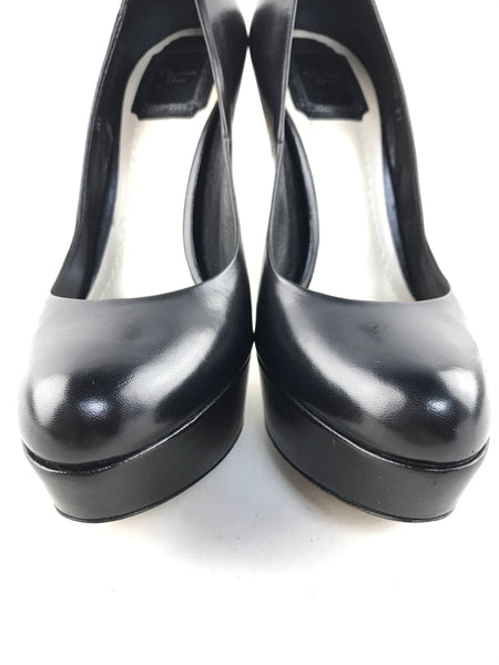 Black Leather Miss Dior Pumps