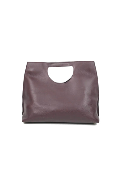 Burgundy Grained Leather Large Alix Tote W/GHW