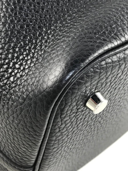 Black Clemence Picotine Lock 22 MM Bag W/PHW