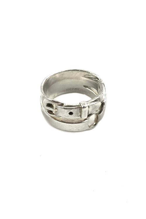 Sterling Silver Double Belt Ring