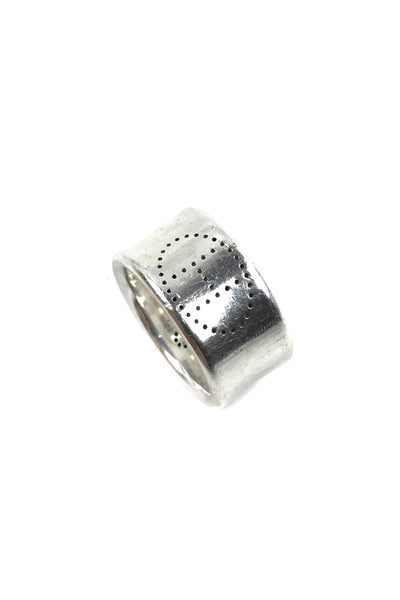 Sterling Silver Eclipse Ruban Ring