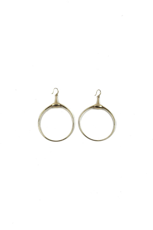 18k Yellow Gold Horsebit Hoop Earrings - Haute Classics