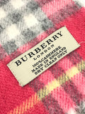 Hot Pink Check Cashmere Scarf