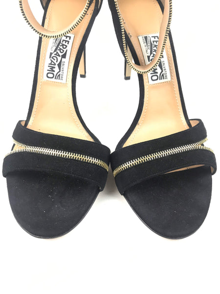 Black Suede Ronette Sandals