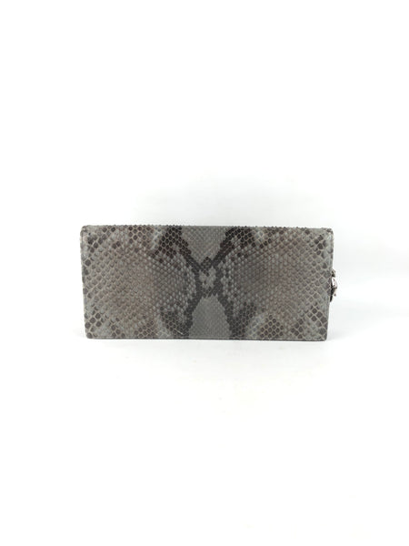 Taupe/Grey/Brown Snakeskin Lady Dior Chain Clutch