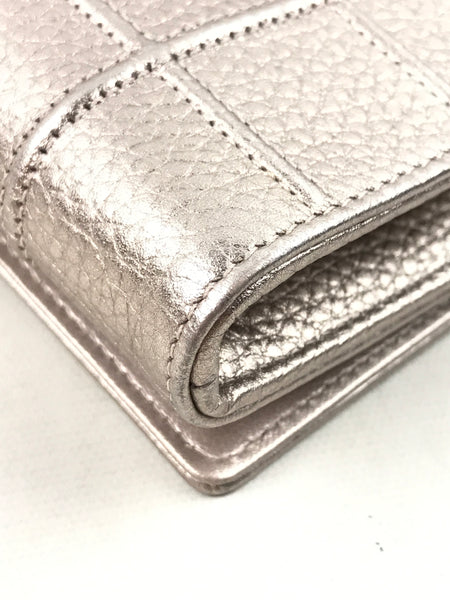 Diorama Rose Gold Metallic Calfskin Leather Wallet On Chain W/GHW
