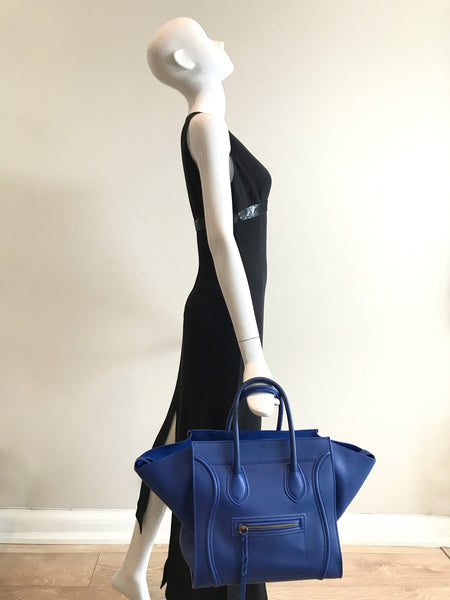 Cobalt Blue Smooth Leather Phantom Bag W/AGHW