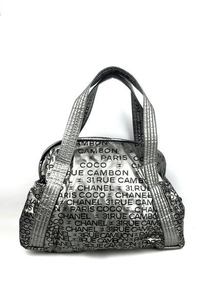 Silver 31 Rue Cambon Shopping Tote Bag