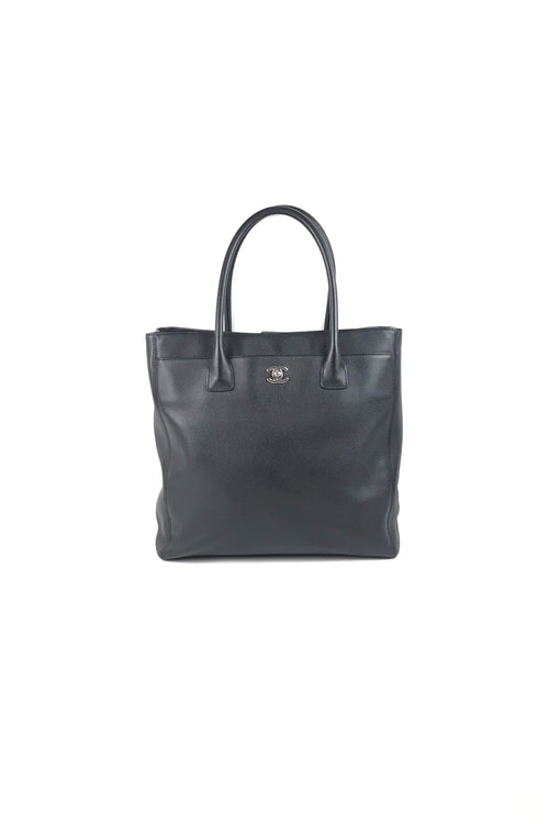 c5160992bc60 Black Grained Leather Cerf Tall Tote W/ SHW