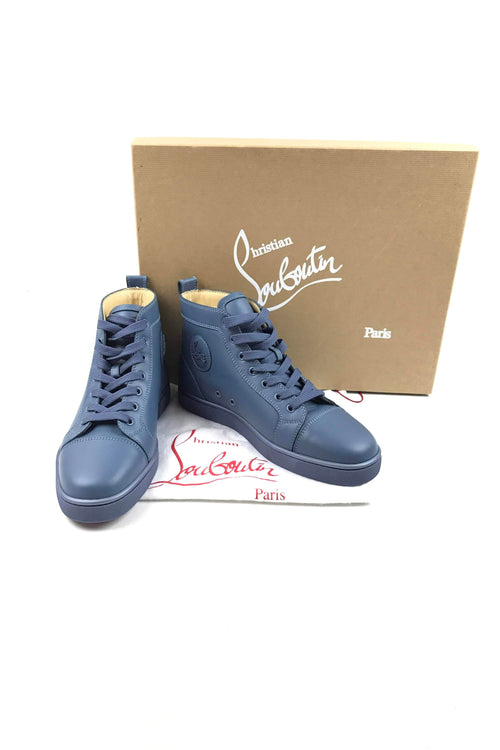Blue Leather Louis Sneakers