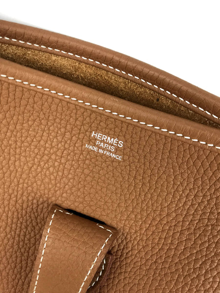 Gold Clemence Evelyne 33 GM Bag w/ PHW