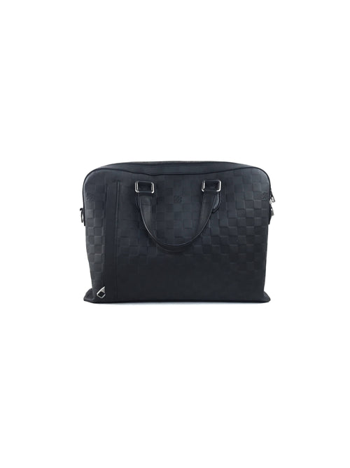 Onyx Damier Infini Leather Messenger Brief Case W/RHW