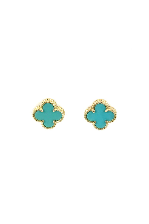 18K Yellow Gold/Turquoise Sweet Alhambra Mini Earstuds