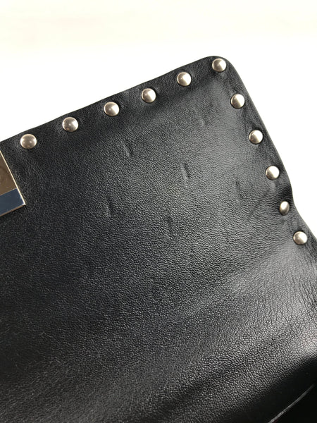Metallic Gold Rockstud Spike Medium Chain Bag