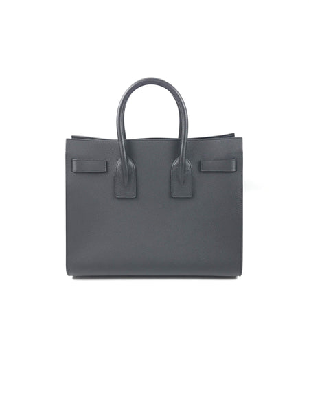 Black Grained Leather Small Sac du Jour W/ SHW