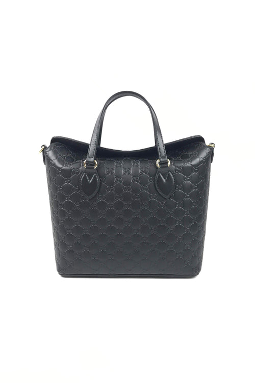 Black Guccissima Signature Top Handle Bag W/ GHW