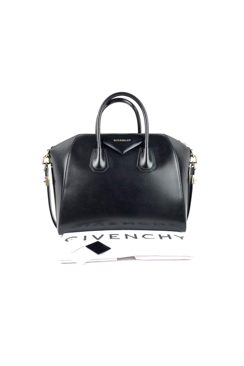 Black Box Calf Medium Antigona W/ LGHW