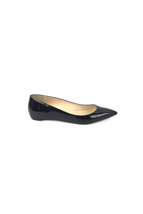 Black Patent Leather Pigalle Follies Flats