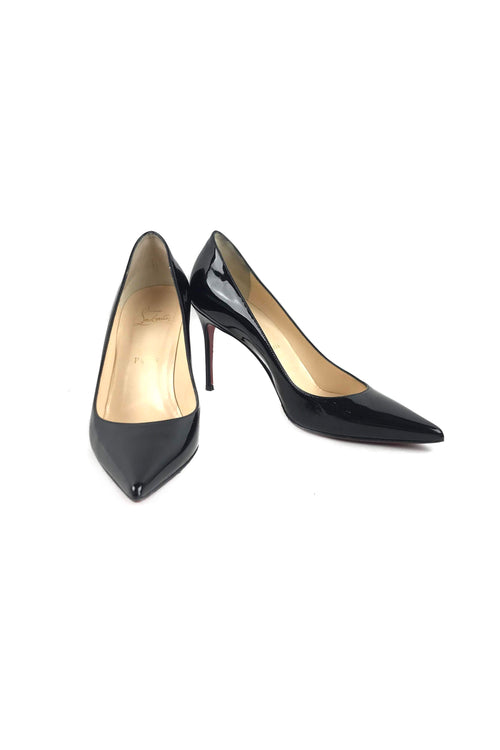 Black Patent Leather Kate 85 mm Pumps