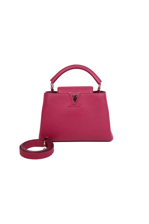 Bougainvillea Full-Grain Taurillon Leather Capucines BB Bag - Haute Classics