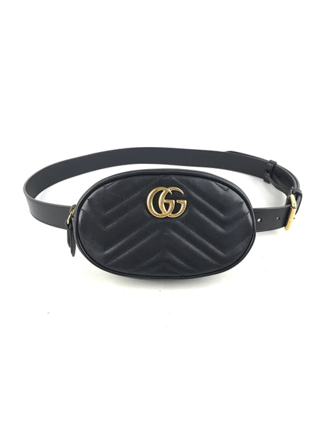 Black Marmont Matelasse Belt Bag W/AGHW