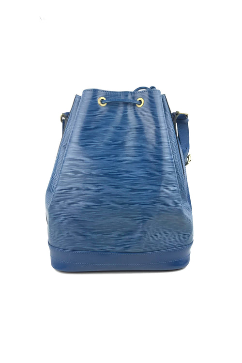 Cyan Epi Leather Large Noe Bucket Bag